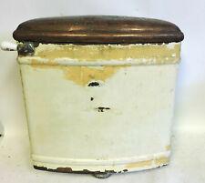 ANTIQUE COPPER TOILET TANK WITH LID W/ Porcelain Flush Handle WHITE COPPER CO.