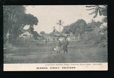 West Africa Sierra Leone FREETOWN Berwick St pre1919 PPC pub Lisk-Carew Bros