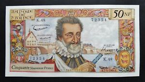 """50 N.Francs """"Henri IV"""" - 7 avril 1960"""