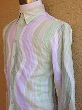 Men's Guess Shirt Small Men's White/Green/Lilac  A97