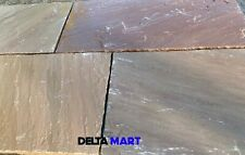 Indian Sandstone Autumn Brown Paving patio pack 20.25sqm Next day Calibrated H/c