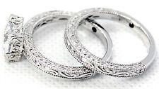 VANNA K WEDDING SET* CubicZirconia Platineve Rings Size 9 NEW!
