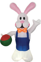 EASTER BUNNY WITH EGG 7 FT AIRBLOWN INFLATABLE YARD DECORATION