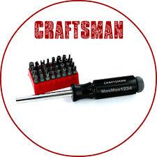 CRAFTSMAN PROFESSIONAL TAMPER PROOF 33 PIECE SCREW DRIVER BIT SET 9-47486 NEW
