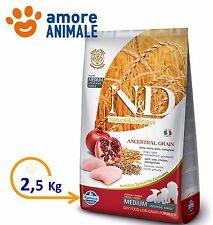 Farmina N&D Low Grain  Puppy Medium Pollo e Melograno da 2,5 Kg Crocchette cani
