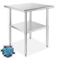 """Stainless Steel 30"""" x 30"""" NSF Commercial Kitchen Work Food Prep Table"""