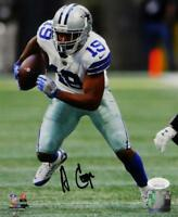 Amari Cooper Signed Cowboys 8x10 Running White Jersey PF Photo- JSA W Auth *Blk