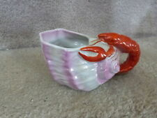 "GORGEOUS VINTAGE Figural Lobster on Luster Seashell Creamer GERMANY 5.75""L"