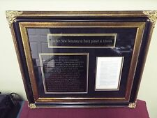 Museum Quality Framed Bible Page - First Dutch NT Printed in America