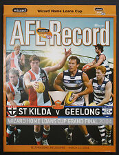 2004 Wizard Cup Grand Final St Kilda vs Geelong Football Record unmarked