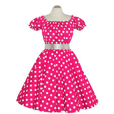 Rockabilly 50er   Kleid Petticoat Pink Up Party Baumwolle X/XL 102-42