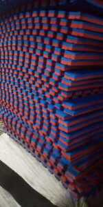 Rubber Tile RED AND BLUE