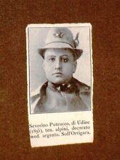 WW1 Caduto o morto nella 1a guerra mondiale Eroe Severino Putrucco di Udine