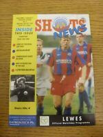 10/10/1993 Aldershot Town v Lewes  . Thanks for viewing our item, if this item h