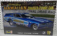 DODGE CHARGER HAWAIIAN FUNNY CAR 1973 74 1/16 BOYS DRAG MOPAR REVELL MODEL KIT