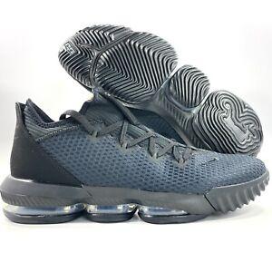 Nike Lebron XVI 16 Low Triple Black CI2668-002 Men's 10.5-13