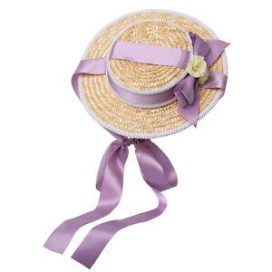 Victorian Women Straw Hat Aternoon Tea Pastoral Cap Cosplay Sun Hat Lolita