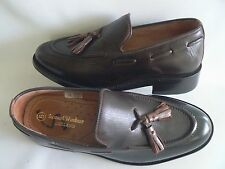 SAMUEL WINDSOR Brown Leather Loafers Shoes Men's / Boys UK Size 5 NEW