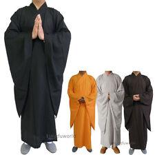 Shaolin Buddhist Dress Monk Robe Kung fu Martial arts Uniform Meditation Suit