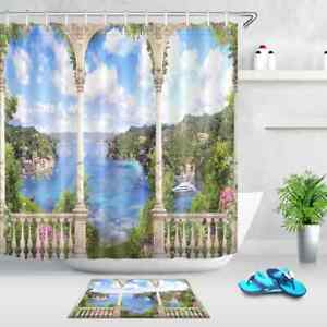 Century Palace Waterproof Bath Polyester Shower Curtain Liner Water Resistant