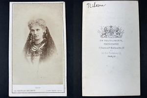 Reutlinger, Paris, Christina Nilsson Vintage cdv albumen print