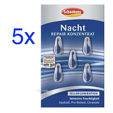5x SCHAEBENS Nacht REPAIR Konzentrat, Zellregeneration, Pro-Retinol+Ceramide NEU