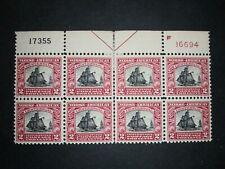 RIV: US MH 620 Plate Block FRESH 2 cent Norse-American 1925 Restaurationen 2K
