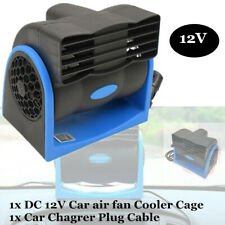 Blue 12V Car Vehicle Truck Cooling Air Fan Speed Adjustable Silent Cooler System