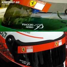 2007 F1 Car Crash Helmet visor strip to fit Kimi Vettel Ferrari f1 team visor x1