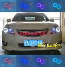 For Subaru Impreza WRX STI 2007-2011 2x Cotton RGB LED Angel Eyes Halo Rings DRL