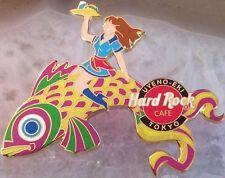 Hard Rock Cafe UYENO-EKI TOKYO 2003 CHILDREN'S DAY PIN Waitress Carp Kite #12665