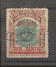 BRUNEI 1906  optd 10c on 16c green and brown vfu