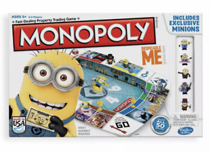 CHOOSE PARTS Despicable Me Monopoly 2013 Game Replacements/Spares Minions Cards