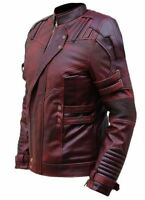 Guardians of The Galaxy Star Lord Chris Pratt style Real Leather Jacket for Men