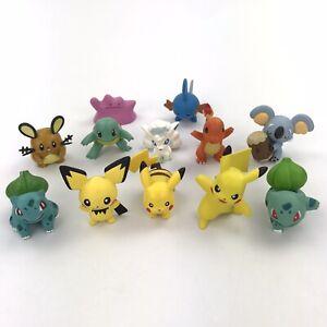 Nintendo Pokemon TOMY Vinyl Figures Lot (12) Pikachu Bulbasaur Charmander Muk