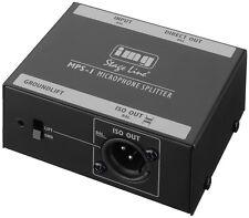 img Stage Line Mikrofon-Splitter mit XLR-Anschlüsse (600 Ω) MPS-1 !!!