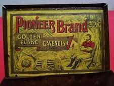 Pioneer Cavendish Golden Flake Tobacco Tin Antique Early 1900's