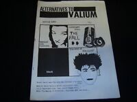 ALTERNATIVES TO VALIUM - SPRING 1983 DIY Punk New Wave Fanzine The Fall Cure APB