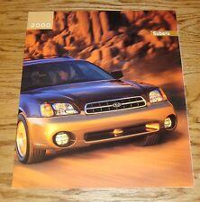 Original 2000 Subaru Full Line Sales Brochure 00 Outback Forester Impreza