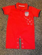 NEW-MENDED Team USA London 2012 Olympics INFANTS 6-9 Months Red Polo Romper