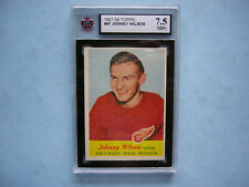1957/58 TOPPS NHL HOCKEY CARD #47 JOHNNY WILSON KSA 7.5 NM+ SHARP+ 57/58 TOPPS