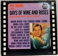 """Pat Boone """"Sings Days of Wine and Roses & Other Great Movie Themes"""" Dot DLP-3504"""