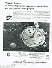 PUBLICITE ADVERTISING 056  1959  la montre Omega  seamaster calendar