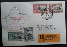RARE 1956 North Borneo Registd 75th Anniv North Borneo Company FDC