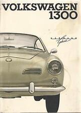 VW KARMANN GHIA 1300 Betriebsanleitung 1966 Bedienungsanleitung Typ 14 BA