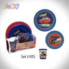 5568 Set desayuno de 3 piezas plastico de Cars