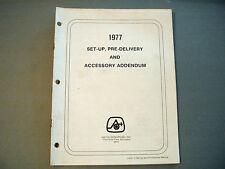 1977 Vintage Arctic Cat Dealer Setup And Accessory Addendum Manual
