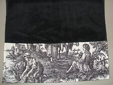 Waverly Hand Towel Black Ivory French Country Life Toile Guest Bathroom Kitchen
