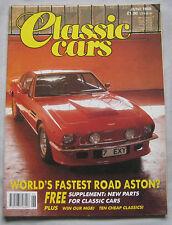 Classic Cars 06/1989 featuring Aston Martin V8, Rolls Royce Silver Dawn, MGA