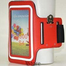 Fascia Da Braccio Per Samsung Galaxy S4 S3 Custodia Sport da Corsa Armband Rosso